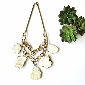 Anthropologie Marble Gold Chain Necklace